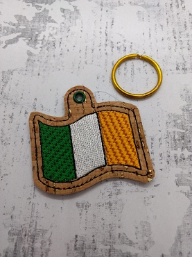 Irish Flag Snaptab / Keyfob Embroidery Design